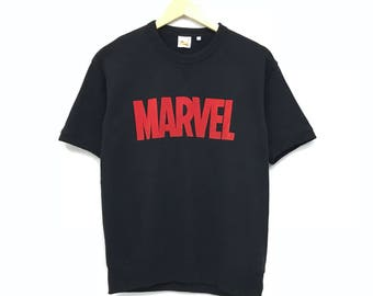 Marvel comics crewneck short sleeve tee big print spell out t shirts / marvel dc