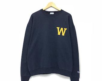 Champion wesrside crewneck Sweatshirt jumper big print logo W pullover streetwear athletics wear
