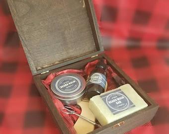 Beard Care Kit - Beard Kit - Beard Grooming Kit - Beard Gift Box - Beard Gift Set - Beard Care Box - Beard Comb - Beard Balm - Beard Oil Set