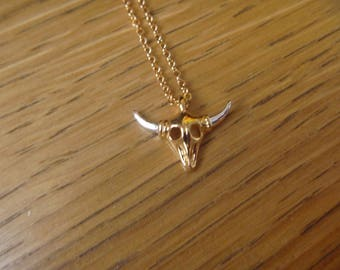 Gold and silver Buffalo necklace