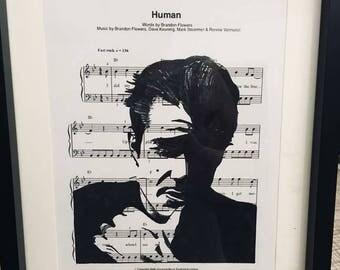 Brandon Flowers sheet music art