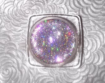 Shade name ( Euphoria ). Lavender holographic loose glitter pigmet. 4 grams in a jar with sifter and seal.