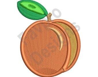 Peach Fruit - Machine Embroidery Design