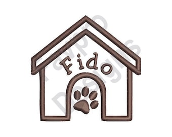Fido House - Machine Embroidery Design