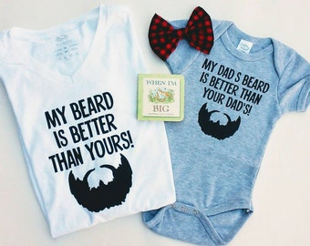 Dad and Baby Shirt Set, Expectant Fathers, Dad, Beard, Expecting Dad, Expecting Mom Gift, Baby Beard Shirts, Funny