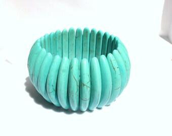 Turquoise Bracelet, Blue Bracelet, Turquoise Cuff Bracelet, Boho Bracelet, Statement Jewerly, Turquoise Jewerly, Free Shipping