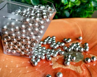 Silver Dragees 4mm - 2OZ 3-4mm Silver Dragees by CK Products Cake Candy Cookie Cake Pop Decorations