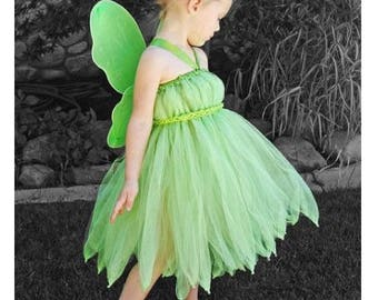 Tinker Bell costume pretend play Halloween Disney Bound outfit baby girl women sizes tutu outfit Peter Pan