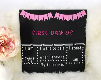 Back to school sign - Back to school chalkboard - Back to school - Chalkboard - Chalkboard Sign - First day of school signs