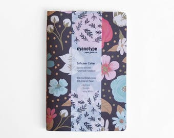 Colorful Floral Softcover Cahier - 4x6
