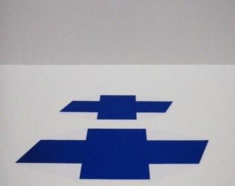 Chevy  Cruze Bowtie Chrome  Blue Decals - High Quality Bowtie Stickers Chevrolet Cruze