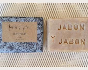 ARGAN SOAP Exfoliating soap 80% Virgin olive oil and oil of Argan BIO, craftsman, hammam, savon noir, hammam soap SOAP