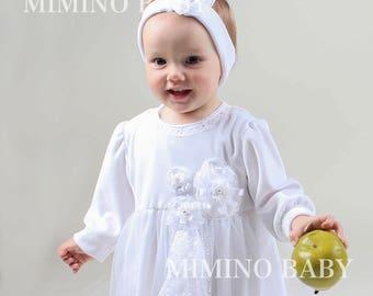 Girl Christening Gown, Girls Velvet Christening Gown, Baby Girl Baptism Gown, Baptism Favors