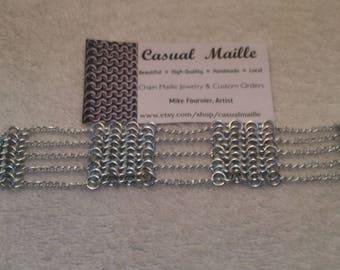 """European 4:1 + Chain Bracelet 7.25"""" (short clasp)"""