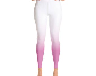 Ombre Leggings Pink Yoga leggings ombre Printed Leggings Ombre Leggings Yoga Leggingss Ombre Yoga Leggings Workout leggings Pink Leggings