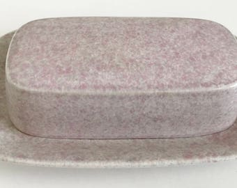 Vintage Mikasa Pink Ultrastone covered 1/4 Pound Butter Dish