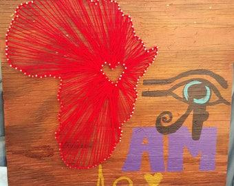 Eye am Africa String Art Wall decor Pan African Inspired