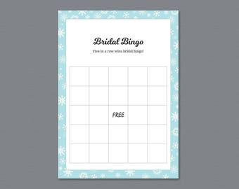 Winter Bridal Bingo, Bridal Shower Games, Empty Bingo Cards, Christmas Snowflakes, Festival, Bachelorette Bingo, Fall Wedding Shower, A026
