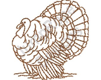 Thanksgiving Turkey - Machine Embroidery Design