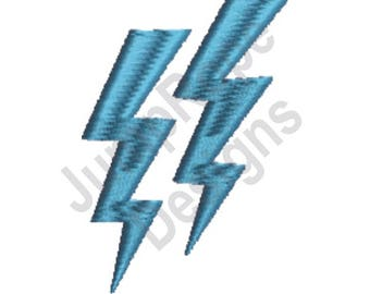 Lightning Bolt Pair - Machine Embroidery Design