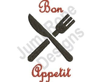 Knife & Fork 3A - Machine Embroidery Design