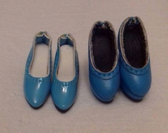 Set - 2 pairs of blue leather shoes for Fashion royalty, Barbie, Silkstone - new