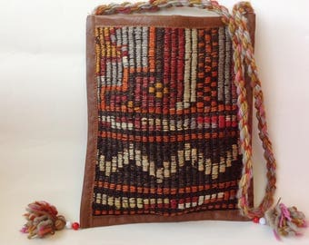 Turkish Bag, Handmade Gypsy Bag, Woven Shoulder Bag, Women's, Girl's, Boho Gift Ideas, The Gypsy Sister, Recycled Carpet Purse, Tribal Bags
