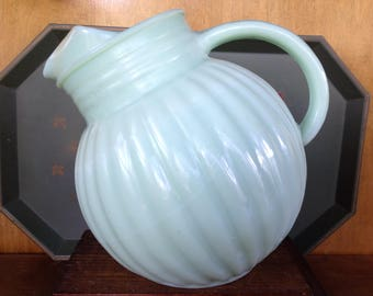 Jadeite Tilt Ball Pitcher