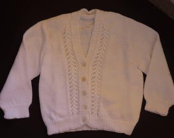 White Baby's Cardigan