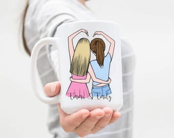 Best Friends Mug, Soul Sisters Mug, Personalized Best Friend Gift, Friendship Gift, Sister Gift