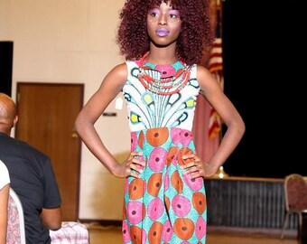 Girl's Ankara Dress - Xss