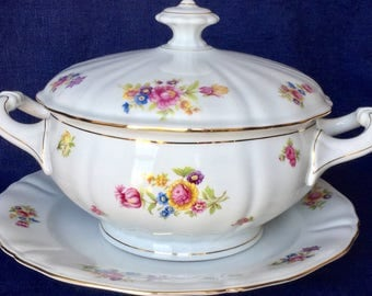 Bavaria, beautiful soup tureen with tray