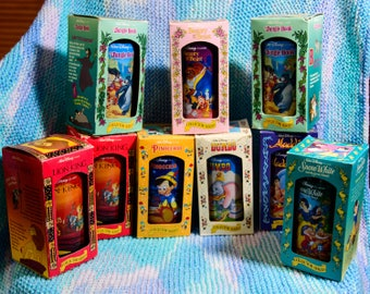 Walt Disney Classic Collector Series Glasses, Burger King, The Lion King, Dumbo, Snow White, Beauty and the Beast etc.