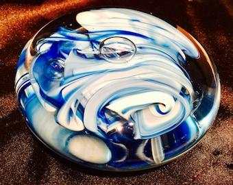 Collectible Handmade Glass Art Paper Weight