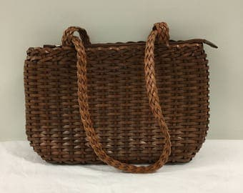 Vintage Italian Leather Woven purse