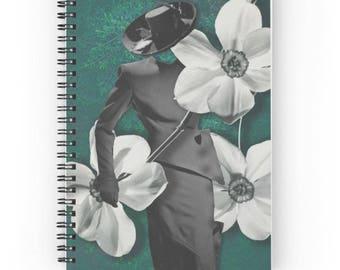 15x20 cm, Miss Dior Notebook, Miss Dior Spiral Notebook, Dior Journal, Flower Journal, Plants Journal, Green Notebook, Vintage Journal