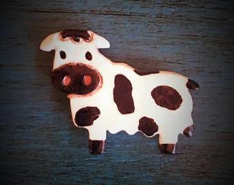 Ceramic Cow Magnet
