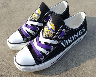 Minnesota Vikings shoes Vikings sneakers Vikings tennis shoes Holiday gifts Damaged font Custom shoes
