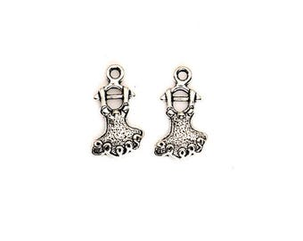 SET of 10 charms silver dancer dancing ballerina Princess tutu (C41) opera