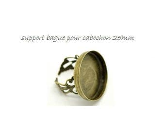 set of 3 medium ring ring round 25mm bronze (W30)