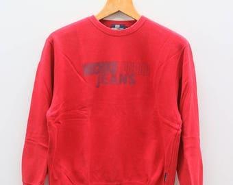 Vintage MICHIKO LONDON JEANS Red Sweater Sweatshirt Size L