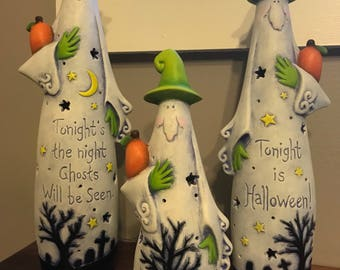 Halloween Decor, Ghost Set