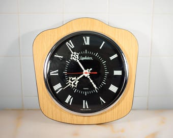 clock vintage clock formica made in Portugal, Reguladora, old clock wall clock, interior decoration, home decor