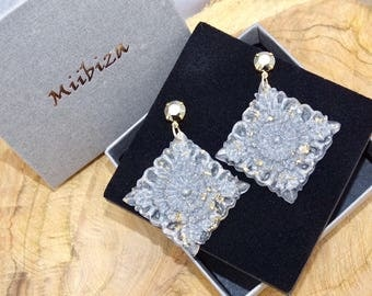 "Earrings ""expression"" sparkling silver"