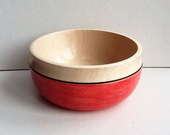 Sycamore Red Stained Bowl E177