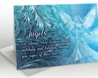 Angels are always close -  A5 Greetings card