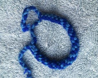 Woven Friendship Bracelet/Spiral Bracelet.  Blue