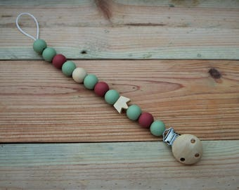 Pacifier clip, soother safer, dummy chain, BPA free silicone soother safer, dual purpose dummy chain