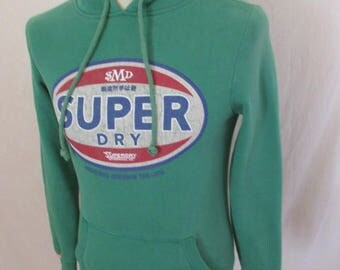 Green size XS Superdry Hoodie to-48%