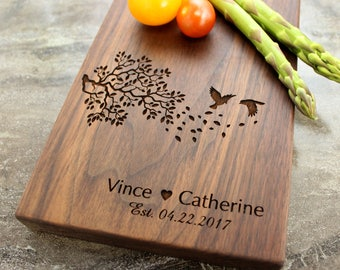 Personalized Cheese Board, Serving Board, Bread Board, Custom, Engraved, Wedding Gift, Housewarming Gift, Anniversary Gift, Engagement #25